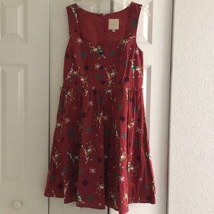 ModCloth vintage reindeer holiday dress